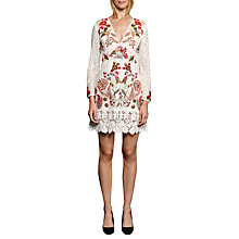 Buy French Connection Legere Lace V-Neck Dress, Multi Online at johnlewis.com