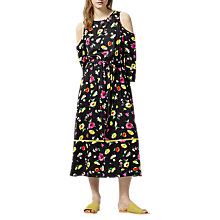 Buy Warehouse Woodstock Floral Midi Dress, Black Pattern Online at johnlewis.com