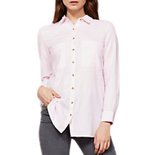 Buy Mint Velvet Candy Floss Longline Shirt, Pink Online at johnlewis.com