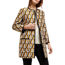 Buy Jaeger Graphic Jacquard Coat, Midnight Online at johnlewis.com
