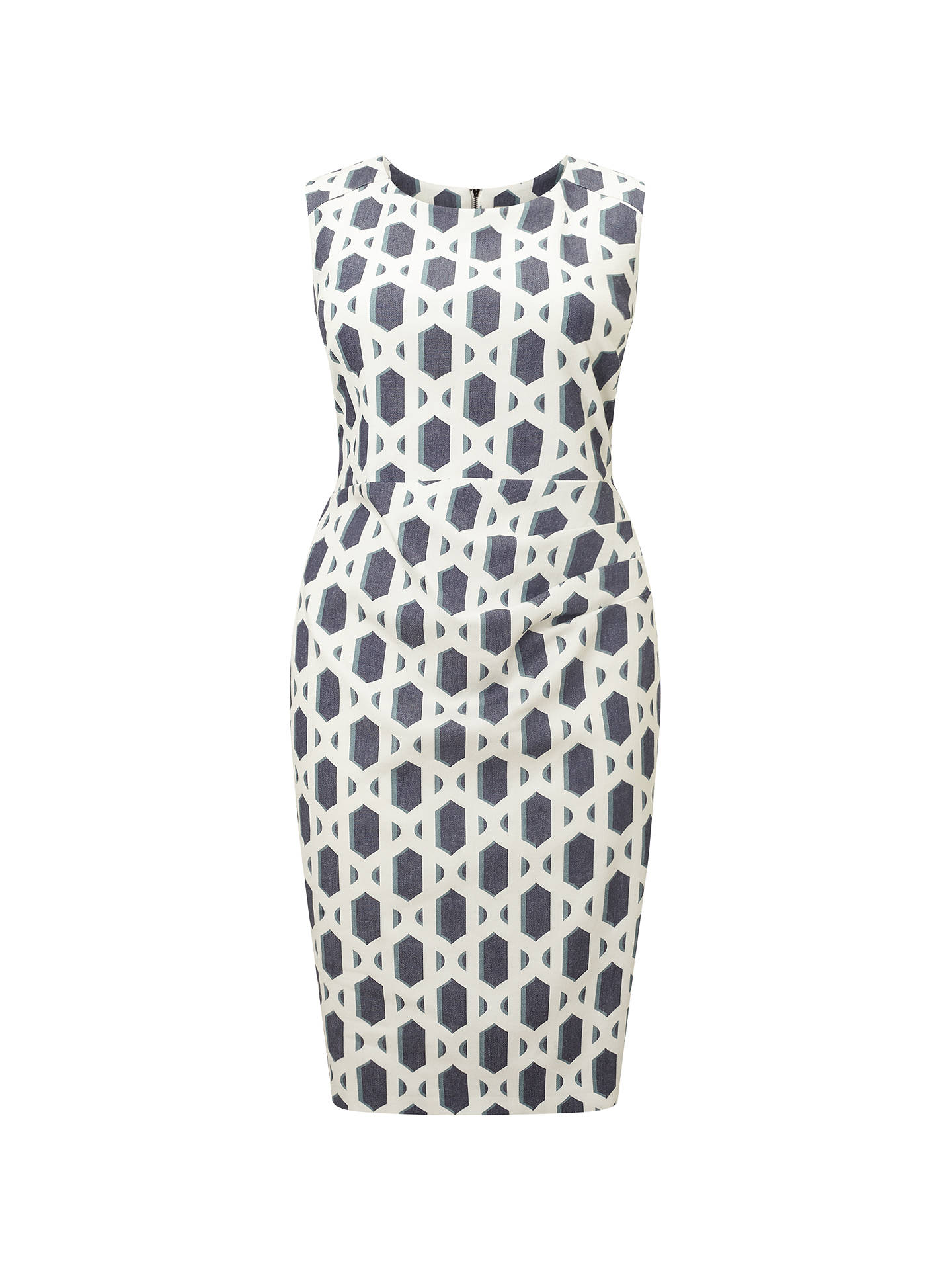Studio 8 Dannika Dress, Ivory/Blue at John Lewis & Partners