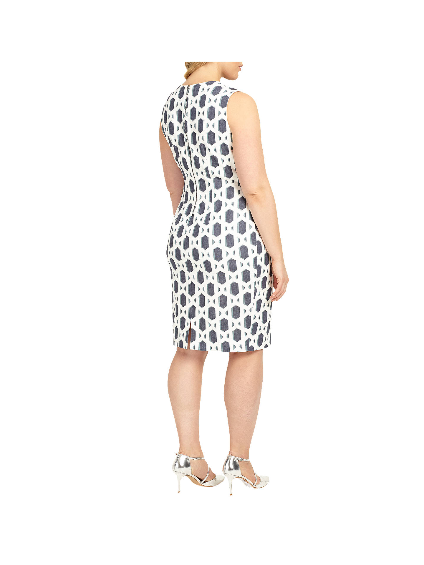 BuyStudio 8 Dannika Dress, Ivory/Blue, 24 Online at johnlewis.com