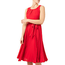 Buy Jacques Vert Plisse Lace Insert Dress, Bright Red Online at johnlewis.com
