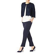 Buy Jacques Vert Petite Lace Cape Jacket, Navy Online at johnlewis.com