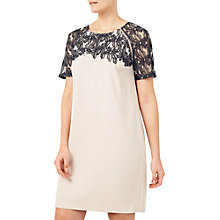 Buy Jacques Vert Lace Applique Tunic Dress, Multi/Black Online at johnlewis.com