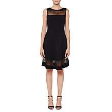 Buy French Connection Tobey Crepe Dress, Black Online at johnlewis.com