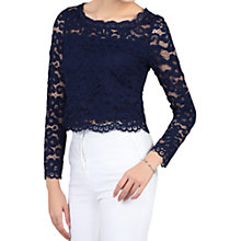 Buy Jolie Moi Scalloped Flare Sleeve Lace Top Online at johnlewis.com