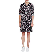Buy French Connection Eva Crepe Leaf Print Dress, Utility Blue/Multi Online at johnlewis.com