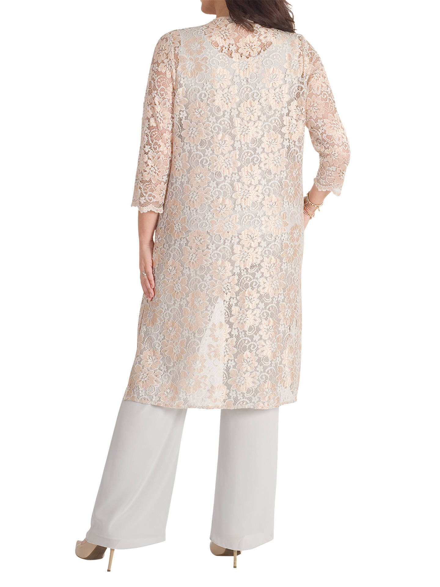 BuyChesca Scallop Lace Coat, Gold, 12 Online at johnlewis.com