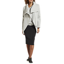 Buy Mint Velvet Funnel Neck Biker Coat, Silver Grey Online at johnlewis.com