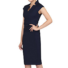 Buy Jolie Moi High Collar Ruched Bodycon Dress, Navy Online at johnlewis.com
