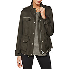 Buy Mint Velvet Soft Utility Jacket, Khaki Online at johnlewis.com
