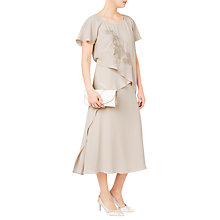 Buy Jacques Vert Embroidered Tie Side Dress, Mid Neutral Online at johnlewis.com