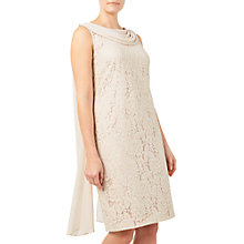 Buy Jacques Vert Lace Drape Cape Dress, Mid Neutral Online at johnlewis.com