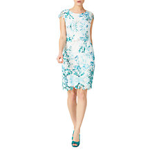 Buy Jacques Vert Petite Leaf Lace Dress, Cream/Multi Online at johnlewis.com