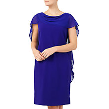 Buy Jacques Vert Wrap Drape Cape Dress, Mid Blue Online at johnlewis.com