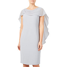 Buy Jacques Vert Wrap Drape Cape Dress, Mid Grey Online at johnlewis.com