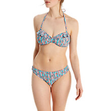 Buy White Stuff Seahorse Seaweed Bikini Bottoms, Tropical Turquoise Online at johnlewis.com