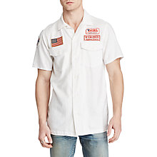Buy Denim & Supply Ralph Lauren Short Sleeve Moto Sport Shirt, White Online at johnlewis.com