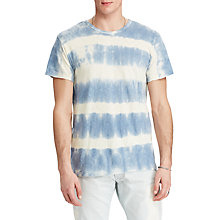 Buy Denim & Supply Ralph Lauren Crew Neck Stripe T-Shirt, Station Blue Online at johnlewis.com