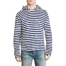 Buy Denim & Supply Ralph Lauren Long Sleeve Hoodie, Sea Spray Stripe Online at johnlewis.com