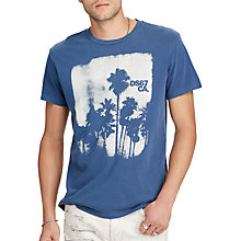 Buy Denim & Supply Ralph Lauren Cotton Jersey Graphic T-Shirt, Fairfax Blue Online at johnlewis.com