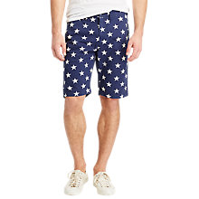 Buy Denim & Supply Ralph Lauren Star Print Chino Shorts, Navy Online at johnlewis.com