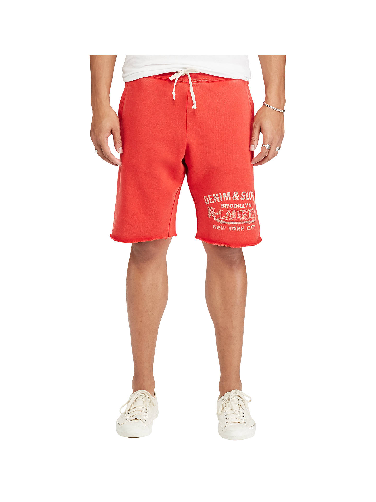 5e317ab58ad Buy Denim & Supply Ralph Lauren Cotton French Terry Cutoff Sweat Shorts,  Ancient Red, ...