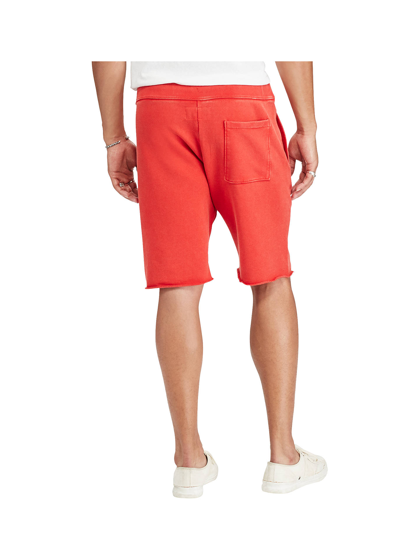 e7ba844a334 ... Buy Denim & Supply Ralph Lauren Cotton French Terry Cutoff Sweat Shorts,  Ancient Red, ...