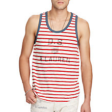 Buy Denim & Supply Ralph Lauren Striped Vest Top, Summer Stripe Online at johnlewis.com