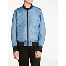 Buy Diesel J-Pixie Bomber Jacket, Grey/Blue Online at johnlewis.com