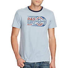 Buy Denim & Supply Ralph Lauren Speed Equipment Print Ringer T-Shirt, Wesley Blue Online at johnlewis.com