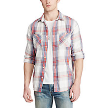 Buy Denim & Supply Ralph Lauren Plaid Cotton Twill Shirt, Multi Online at johnlewis.com