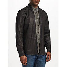 Buy Diesel L-Dread Cowhide Leather Jacket, Black Online at johnlewis.com
