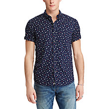 Buy Denim & Supply Ralph Lauren Short Sleeve Star Cotton Poplin Shirt, New Star Print Online at johnlewis.com