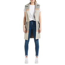 Buy Grace & Oliver Paloma Sleeveless Stripe Coat, Grey/Camel Online at johnlewis.com