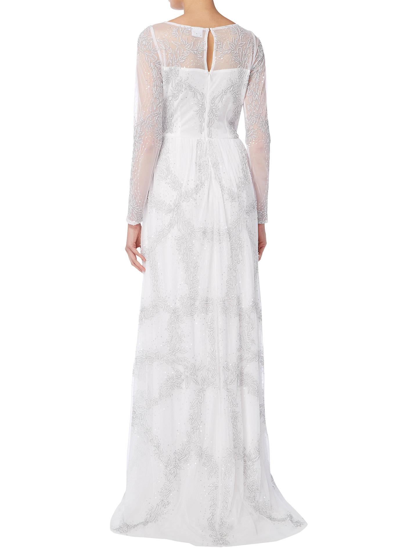 Raishma Full Sleeve Embellished Bridal Gown, Ivory at John Lewis ...
