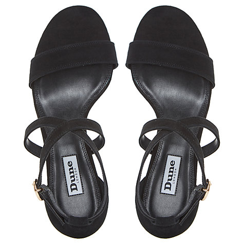 Buy Dune Montie Cross Strap Block Heeled Sandals Online at johnlewis.com