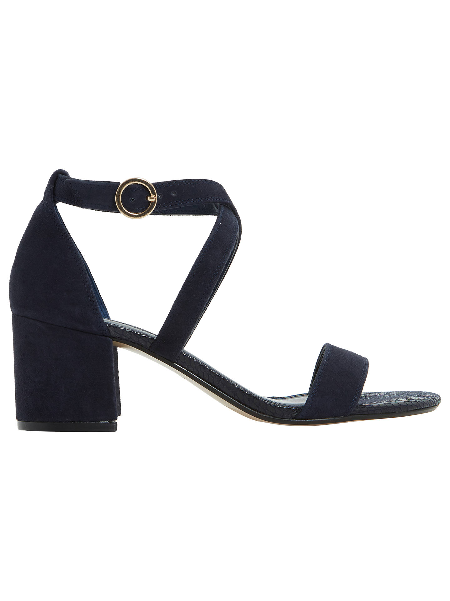 5ade96c3a7c2 Dune Montie Cross Strap Block Heeled Sandals at John Lewis   Partners