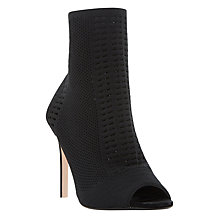 Buy Dune Oceann Peep Toe Stiletto Shoe Boots, Black Online at johnlewis.com