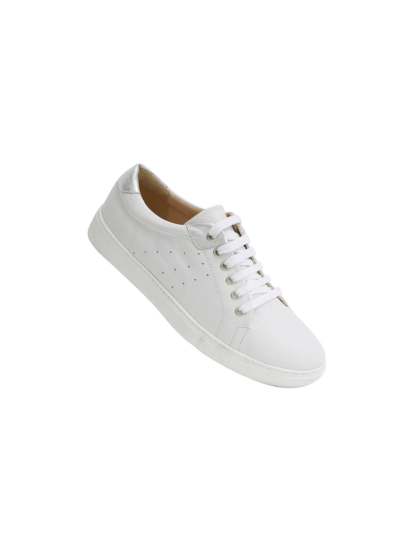 Buy Mint Velvet Allie Lace Up Trainers, White, 3 Online at johnlewis.com