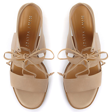 Buy Mint Velvet Kara Lace Up Block Heeled Sandals Online at johnlewis.com