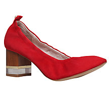 Buy KG by Kurt Geiger Essence Block Heeled Court Shoes, Red Online at johnlewis.com