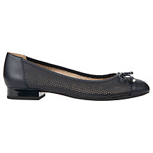 Buy Geox Wistrey Ballet Flat Pumps, Navy Online at johnlewis.com
