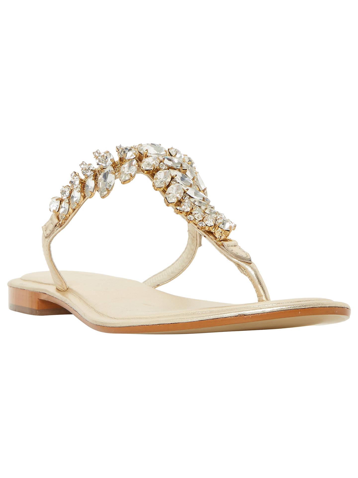 8fa43275086c04 Dune Nara Jewelled Toe Post Flat Sandals at John Lewis   Partners