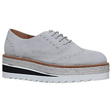 Buy Carvela Lowdown Lace Up Flatform Brogues, Grey Suede Online at johnlewis.com