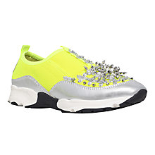 Buy Carvela Lola Embellished Slip On Trainers, Yellow Online at johnlewis.com