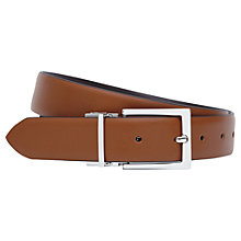 Buy Reiss Ricky Reversible Leather Belt, Tan/Dark Brown Online at johnlewis.com