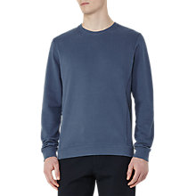 Buy Reiss Fenton Brushed Cotton Sweatshirt, Steel Blue Online at johnlewis.com