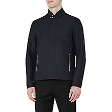 Buy Reiss Bartlett Stand Collar Jacket, Navy Online at johnlewis.com